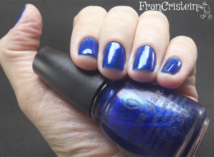 China Glaze Blue Year's Eve + Snow Globe 2