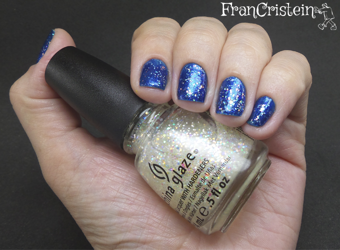 China Glaze Blue Year's Eve + Snow Globe