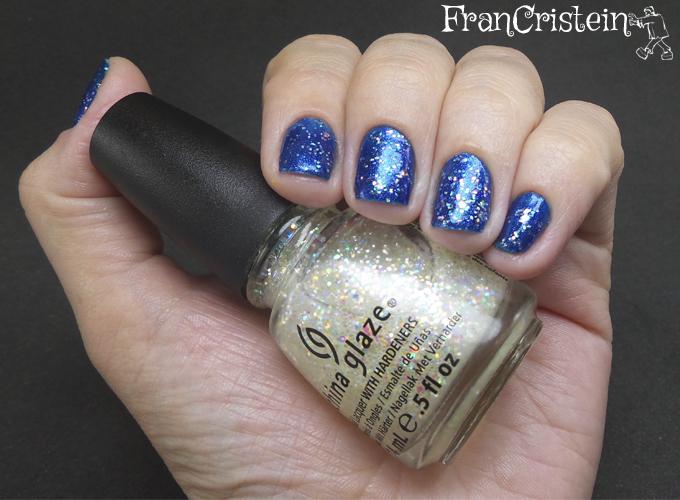 China Glaze Blue Year's Eve + Snow Globe