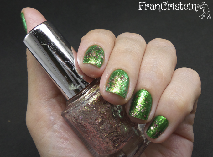 China Glaze Running in Circles + A-england she walks in beauty 2