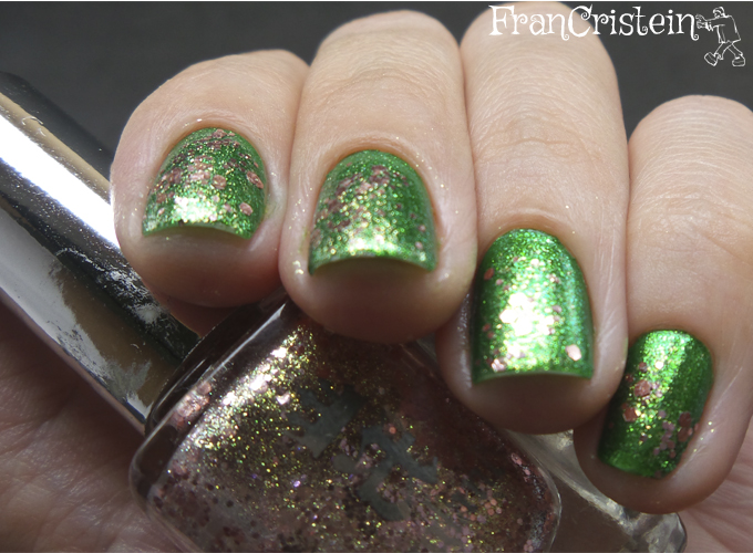 China Glaze Running in Circles + A-england she walks in beauty 3
