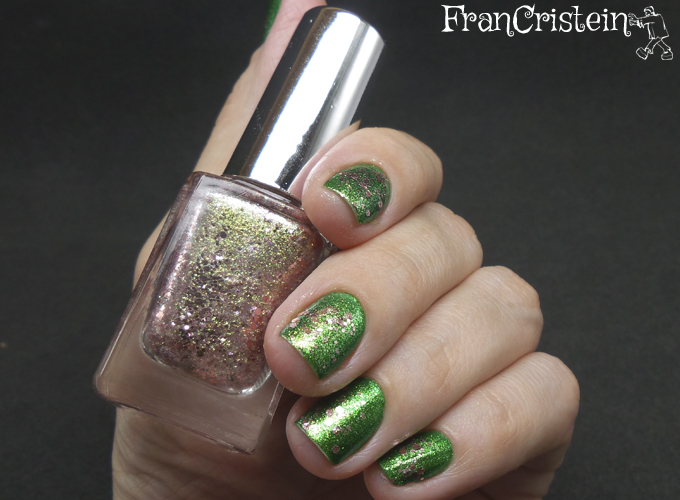 China Glaze Running in Circles + A-england she walks in beauty 5