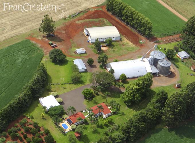 As casinhas com cobertura vermelha são as da minha família!