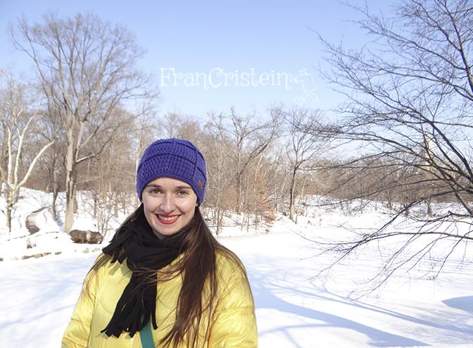 """Eu sorrindo de """"oreia inté oreia"""" no Central Park! <3"""