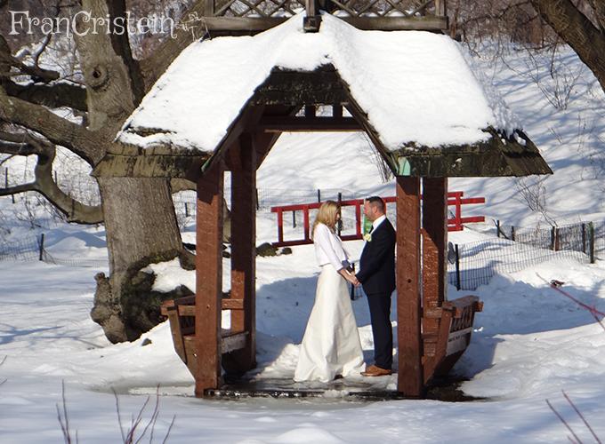 Noiva morrendo de frio no Central Park para tirar fotos divas