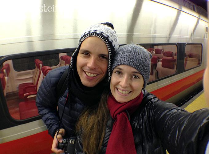 Um trem parado lá na Grand Central mesmo