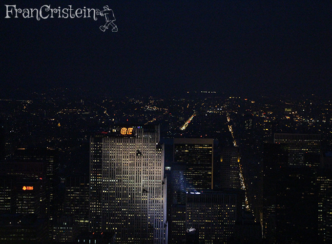 Top of the Rock e lá o Central Park