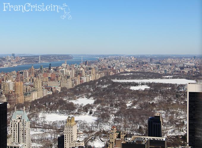 Central Park branquinho visto do Top of the Rock