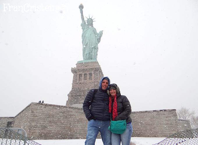 Muita neve, mal dava para parar!