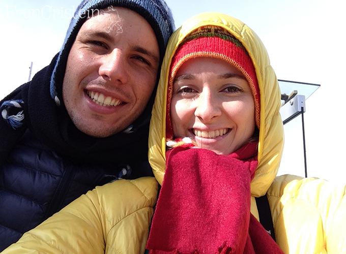 Friozão congelou a gente sorrindo <3