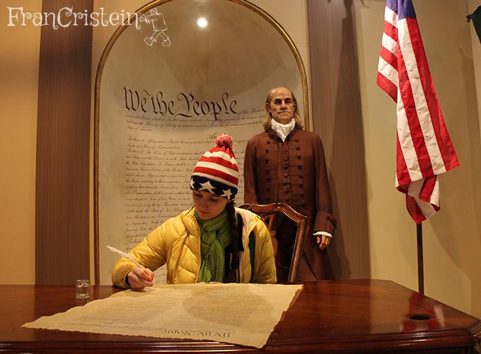 Assinando a Constituição dos EUA, sou importante