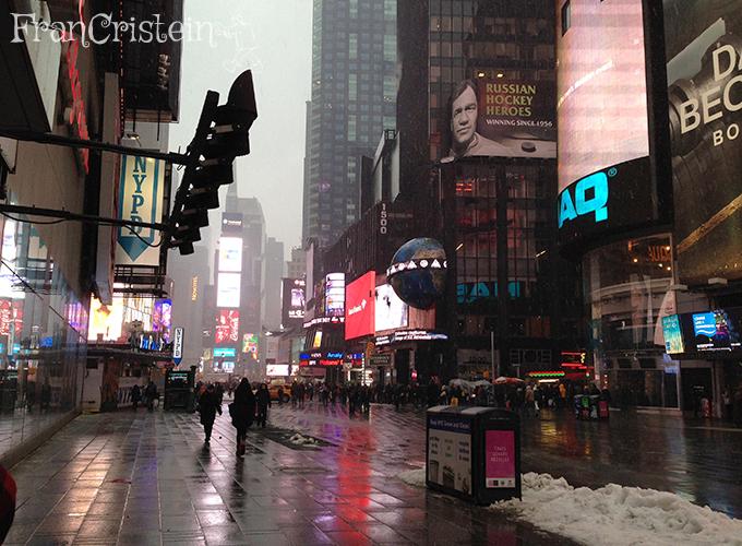 E depois passeio na Broadway/Times