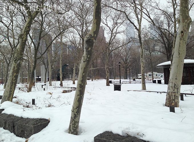 Nevasca encheu tudinho de neve