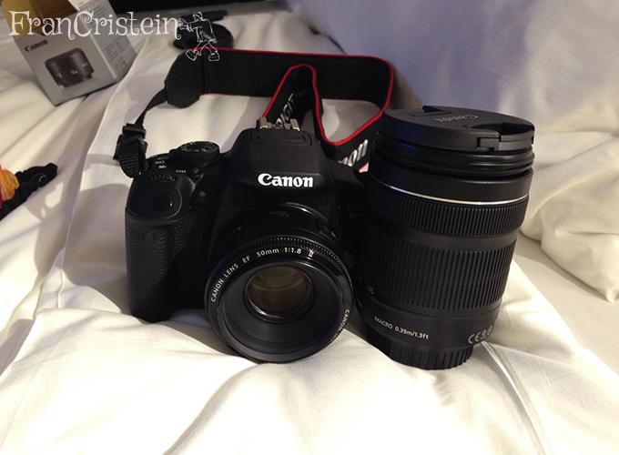My precious Canon t5i com lente 18-135mm + lente 50mm