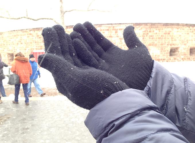 Começou a neve, omg!