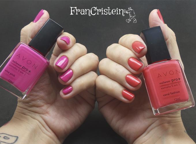 Avon nailwear pro viva pink + coral fashion