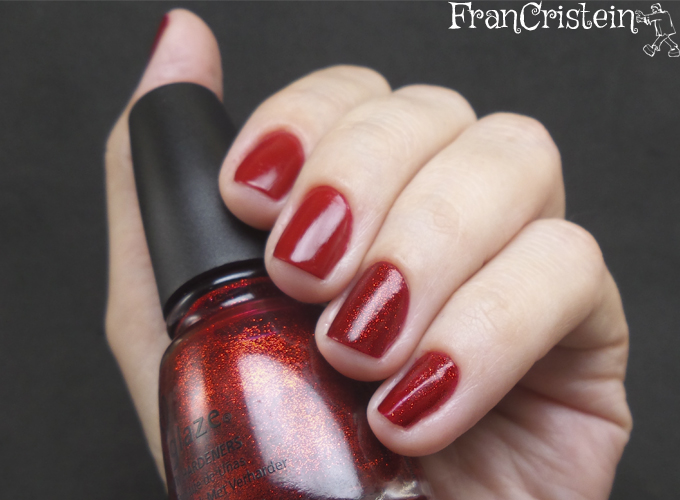 China Glaze Red Satin e Ruby Pumps 2