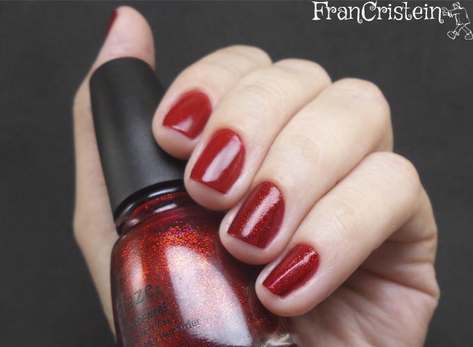 China Glaze Red Satin e Ruby Pumps 2