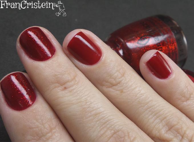 China Glaze Red Satin e Ruby Pumps 5