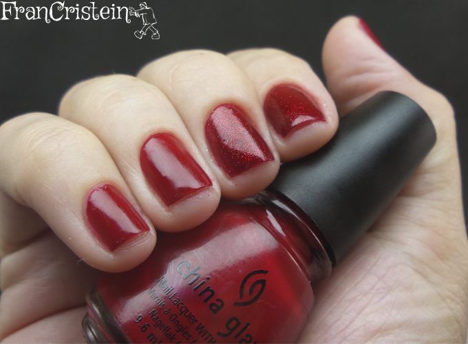 China Glaze Red Satin e Ruby Pumps 6