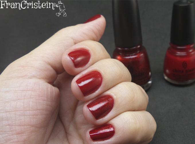 China Glaze Red Satin e Ruby Pumps 8