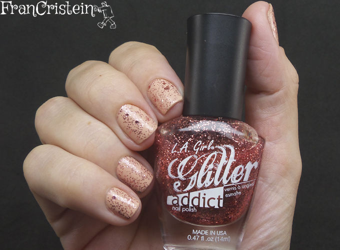 Illamasqua Monogamous + L.A Glitter Addict Inspire (1)