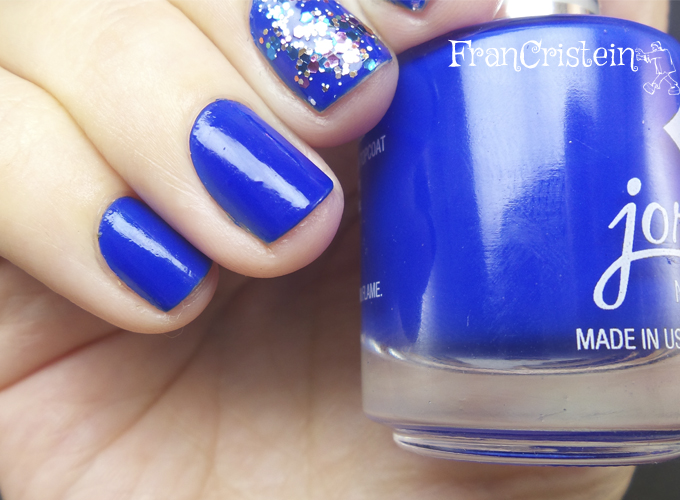 Jordana Blue Phantom + China Glaze Your Present Required 2