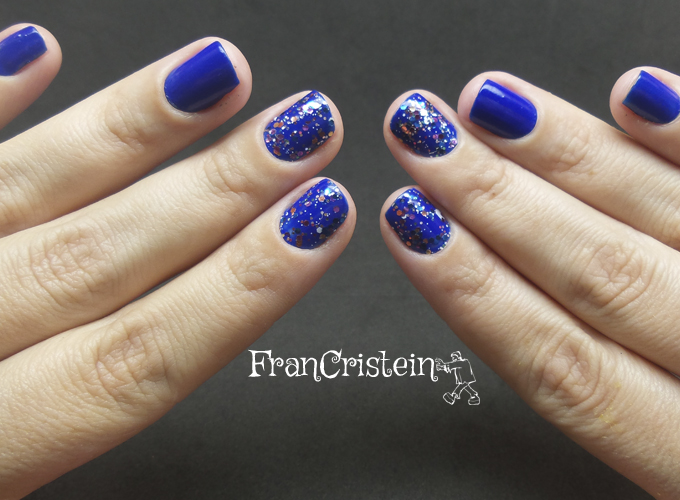 Jordana Blue Phantom + China Glaze Your Present Required 6