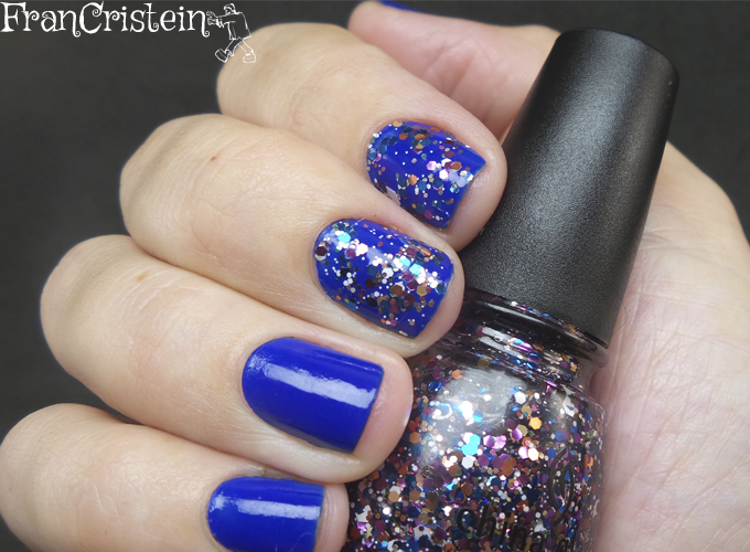 Jordana Blue Phantom + China Glaze Your Present Required 7