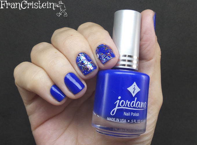 Jordana Blue Phantom + China Glaze Your Present Required