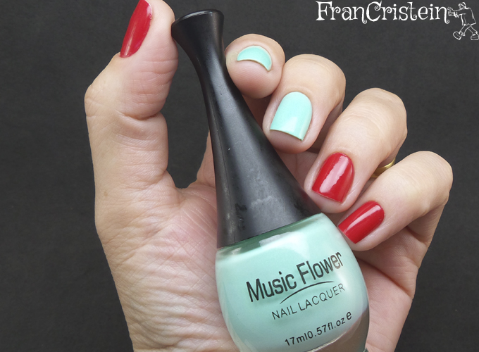Music Flower Nail Lacquer 07 + HD Nail Polish 12