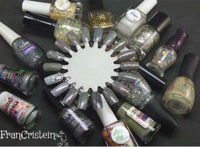 sugestões esmaltes glitter cinza