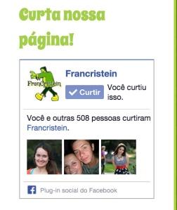 Curtir a página no facebook