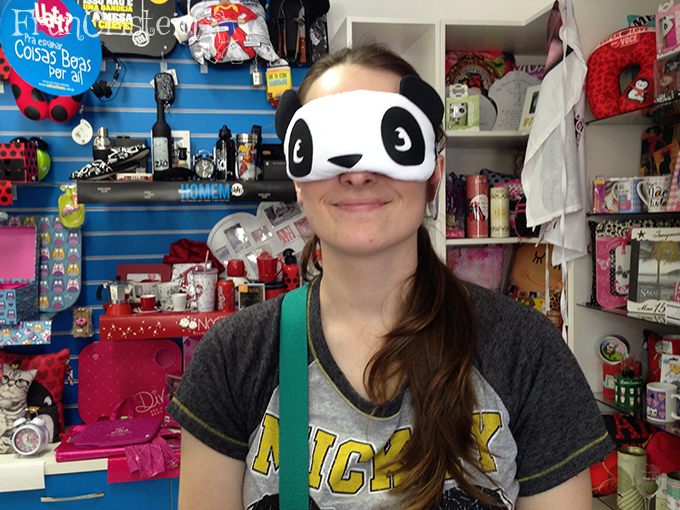 Eu fingindo que sou o Panda
