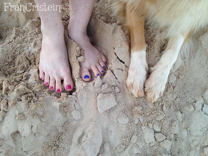 Eu com azunha pintada, mas a Lassie não HAHA