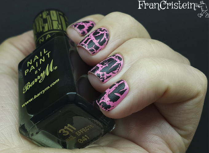 new york summer 7 hot pink + barry m black magic 2